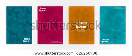 Minimal covers design. Geometric halftone gradients. Eps10 vector. #626250908