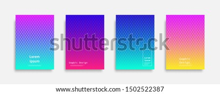 Minimal covers design. Halftone dots colorful design. Future geometric patterns. Eps10 vector.