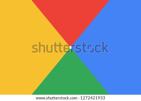 Minimal covers design. Play abstract modern background. Background in the colors of Google. Vector illustration