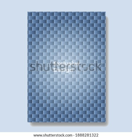 Minimal covers design with rectangle. Geometric background. Blue gradient. Applicable for design cover, presentation, invitation, flyer, and poster. Design layout bundle. Vector background