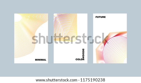 Minimal covers set. Future geometric design. Abstract 3d meshes.  #1175190238