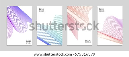 Minimal covers set. Future geometric design. Abstract meshes. Vector illustration. #675316399