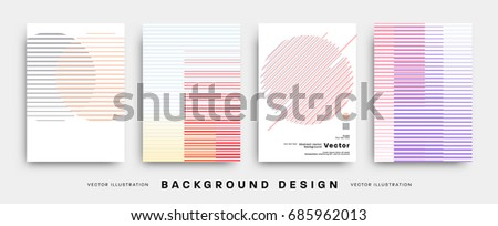 Minimal Covers templates set. Futuristic memphis style patterns and elements for Posters, Placards, Banners, flyers or brochures designs. Vector illustrations.