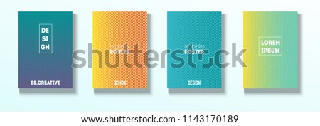 Minimal Covers, Vector Hipster Abstract Neon Design. Magenta, Cyan, Yellow Cool Corporate Identity Glam Funky Halftones. Business Minimal Covers, Retro Ad Music Party Poster Bright Gradient Stripes #1143170189