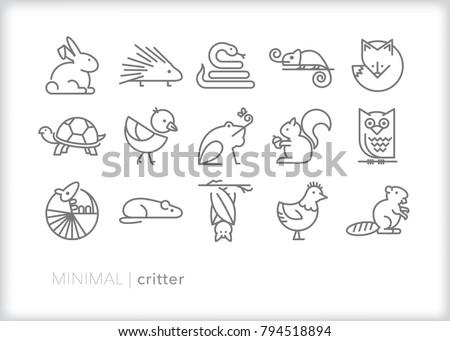 Minimal critter icons
