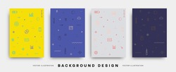 Minimal Design Covers Templates set. Vector illustrations.