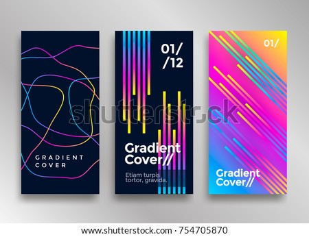 Shutterstock Minimal design poster or cover with vibrant gradients. Colorful brigth backgrounds. Vector template