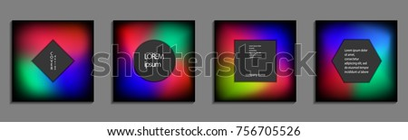 Minimal fluid colors covers set. Future geometric gradient background. Vector templates for placards, banners, flyers, presentations and reports #756705526
