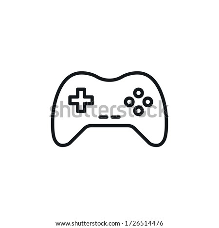 Minimal Gaming Symbol - Stream modern Games - Wireless Controller Icon - Vector