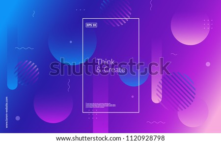 Minimal geometric background. Dynamic shapes composition. Eps10 vector. #1120928798
