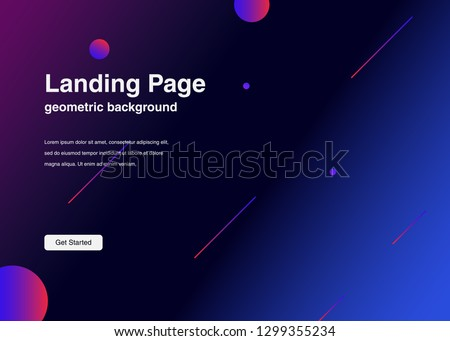 Minimal geometric background Dynamic shapes composition for landing page #1299355234