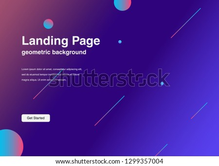 Minimal geometric background Dynamic shapes composition for landing page #1299357004
