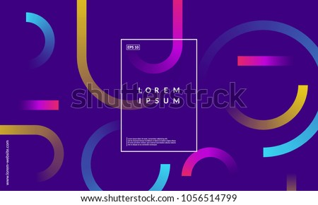 Minimal geometric background. Simple shapes with trendy gradients. Eps10 vector. - Shutterstock ID 1056514799