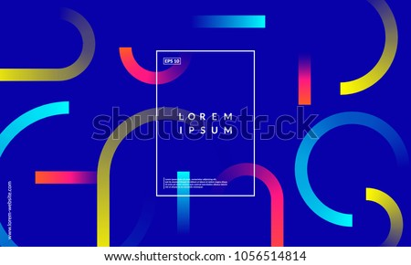 Minimal geometric background. Simple shapes with trendy gradients. Eps10 vector.