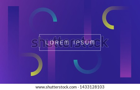 Minimal geometric background. Simple shapes with trendy gradients.Trendy gradients colors.