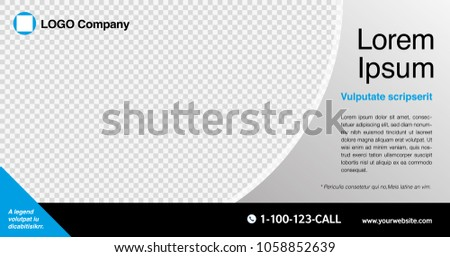 Minimal graphic design layout template for advertising, creative & business concept, modern Circle curve & Geometric diagonal abstract background. Black & White transparent theme, Vector illustration.