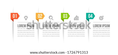Minimal infographic template design with numbers 4 options or steps.