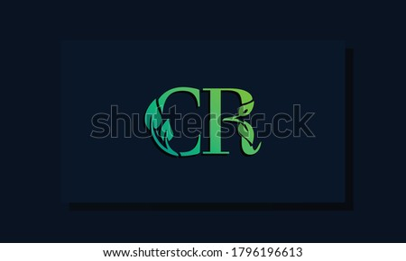 Minimal leaf style Initial CR logo. This logo incorporate with leaf and two letter in the creative way. It will be suitable for ECO, green, nature,  growth and herbal related Brand or company. Photo stock ©