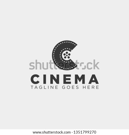 minimal letter C black color simple logo template vector illustration icon element isolated