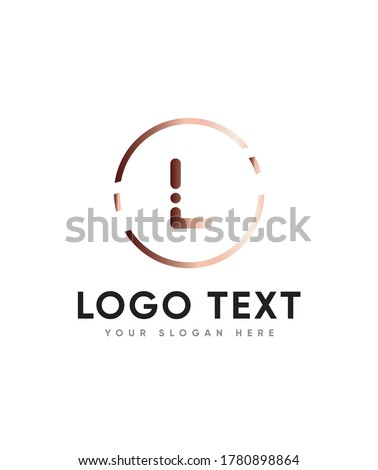 Minimal letter type L logo template with modern and elegant vibes Stock fotó ©