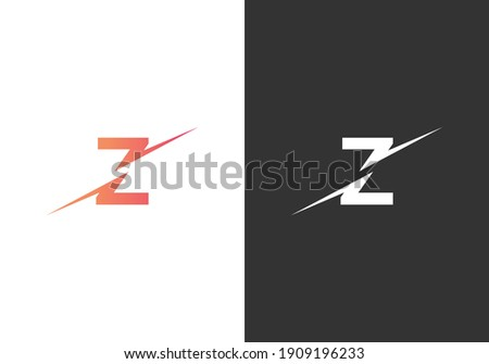 Minimal Letter Z Abstract Logo Template. Modern,Creative Z And Unique Abstract Logo Design Concept Stok fotoğraf ©