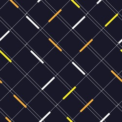 Minimal line grid with yellow and white spot modern style diagonal way , Design for fashion ,background ,wallpaper,fabric,wrapping and all graphic types on dark navy blue background color