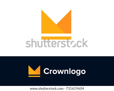 Minimal M Crown Logo Concept. Letter M and Crown minimal logo design. Creative Graphic Alphabet Symbol for Corporate Business Identity. Creative Vector element
