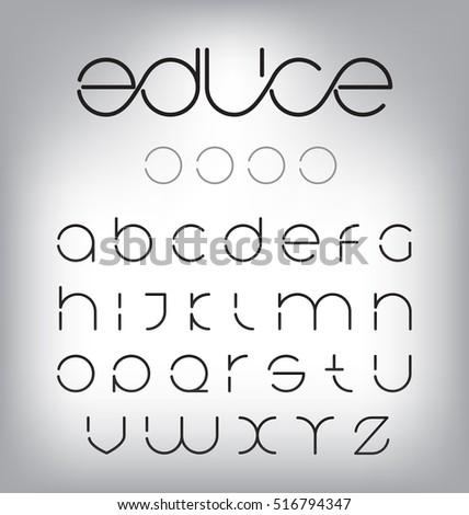 Minimal modern letters