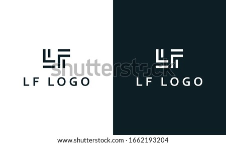 Minimal modern line art letter LF logo. This logo icon incorporate with two letter L and F in the creative way. Stock fotó ©