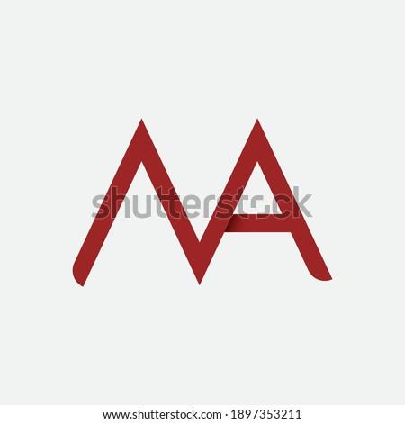 Minimal N A, M A initials letter logo. Letter logo for business, finance. Stock fotó ©