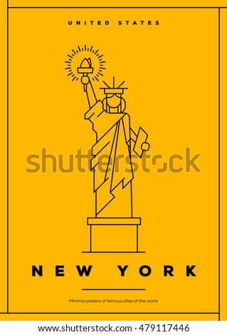 minimal new york city poster