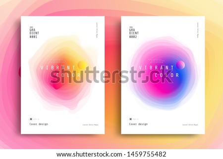 Minimal poster layout with vibrant gradient blurs. Modern Cover design template