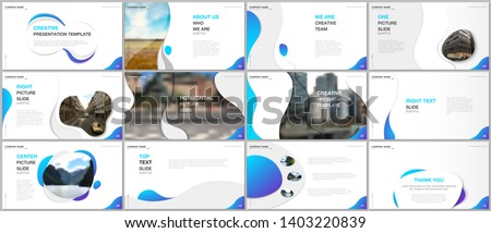 Minimal presentations design, portfolio vector templates with fluid colorful trendy gradients geometric shapes. Multipurpose template for presentation slide, flyer leaflet, brochure cover, report.