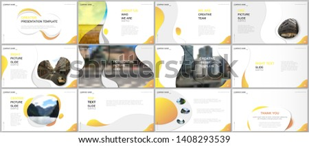 Minimal presentations design, portfolio vector templates with fluid colorful trendy gradients geometric shapes. Multipurpose template for presentation slide, flyer leaflet, brochure cover, report.