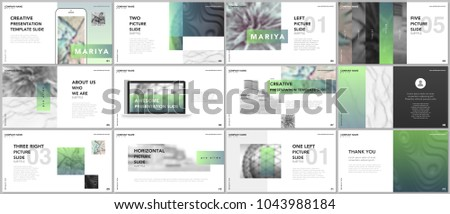 Minimal presentations, portfolio templates. Blue elements on a white background. Brochure cover vector design. Presentation slides for flyer, leaflet, brochure, report, marketing, advertising, banner