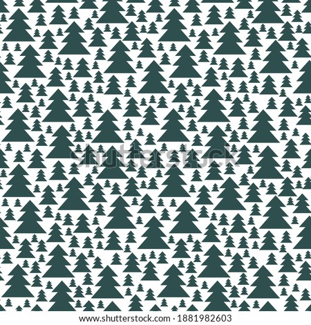 minimal snowy forest two colors