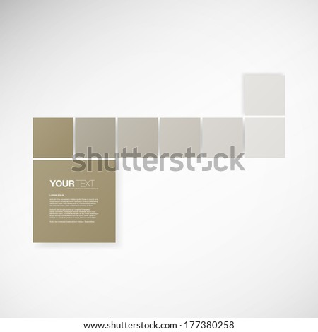 Minimal square text boxes with your text  Eps 10 stock vector illustration