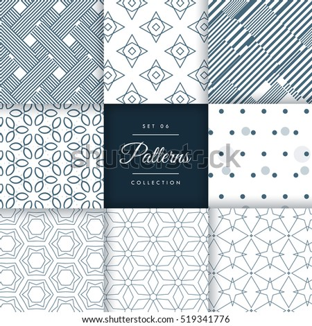 minimal style patterns pack set
