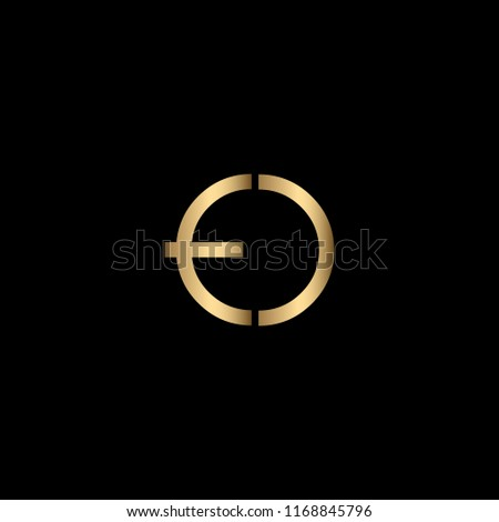 Minimal Unique and Creative Black and Golden Color ED Letters Logo Design