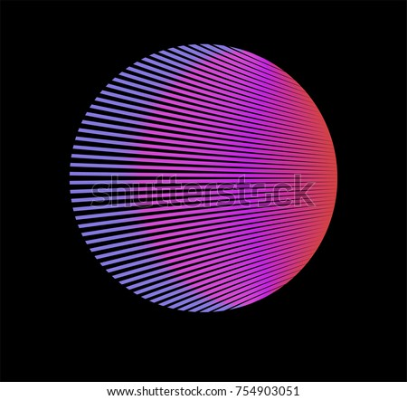 Minimal vaporwave / synthwave style logotype. Neon circle with pink and purple gradient on the dark background.