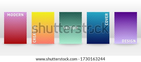Minimal vector abstract cover notebook design. Brochure, book, magazine template.