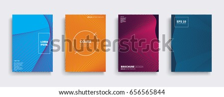Minimal Vector covers design. Cool halftone gradients. Future Poster template. #656565844