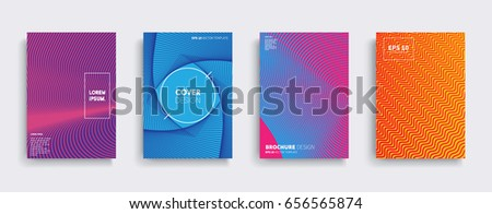 Minimal Vector covers design. Cool halftone gradients. Future Poster template. #656565874
