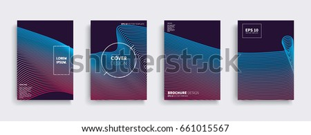Minimal Vector covers design. Cool halftone gradients. Future Poster template. #661015567
