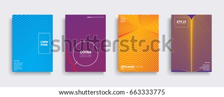 Minimal Vector covers design. Cool halftone gradients. Future Poster template. #663333775