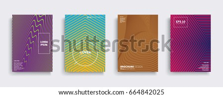 Minimal Vector covers design. Cool halftone gradients. Future Poster template. #664842025