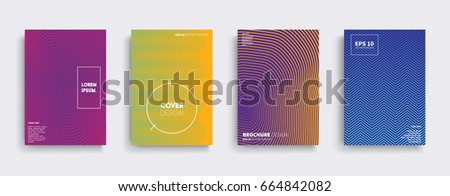 Minimal Vector covers design. Cool halftone gradients. Future Poster template. #664842082