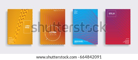 Minimal Vector covers design. Cool halftone gradients. Future Poster template. #664842091