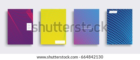 Minimal Vector covers design. Cool halftone gradients. Future Poster template. #664842130