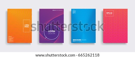 Minimal Vector covers design. Cool halftone gradients. Future Poster template. #665262118